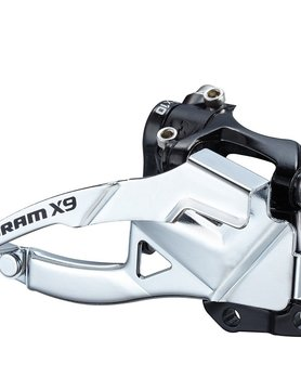 SRAM SRAM X.9 2X10-SPEED LOW BOTTOM PULL S3 DIRECT MOUNT FRONT DERAILLEUR, 39T