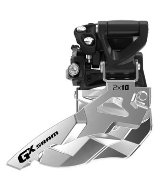 SRAM SRAM FRONT DERAILLEUR GX 2X10 HIGH CLAMP 38/36 BOTTOM PULL
