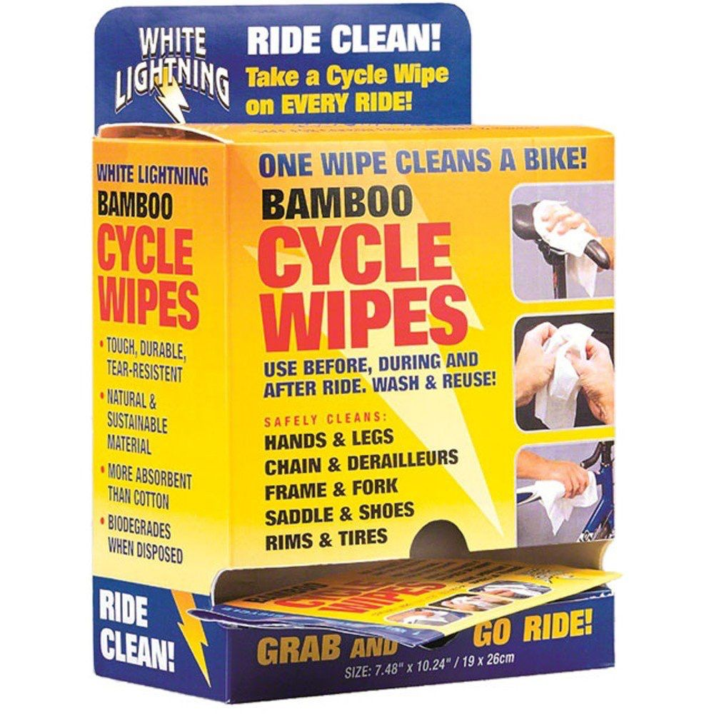 WHITE LIGHTNING BAMBOO CYCLE WIPES 1 WIPES