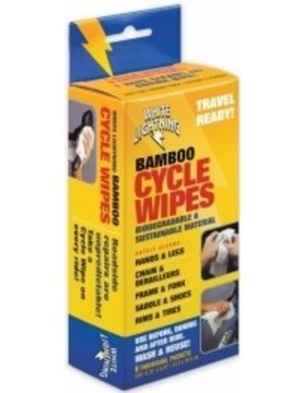 WHITE LIGHTNING BAMBOO CYCLE WIPES 6 WIPES PER BOX
