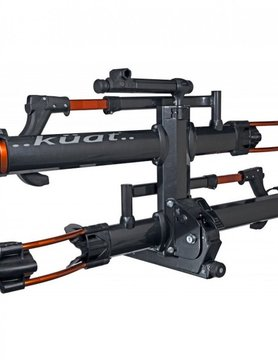 "KUAT NV 2.0 2 "" 2 BIKE RACK GRAY METALIC AND ORANGE ANODIZE"