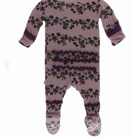 KicKee Pants KicKee Pants - Print Muffin Ruffle Footie with Zipper