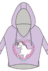 Chaser - 3/4 Pullover Hoodie - I Love Unicorns