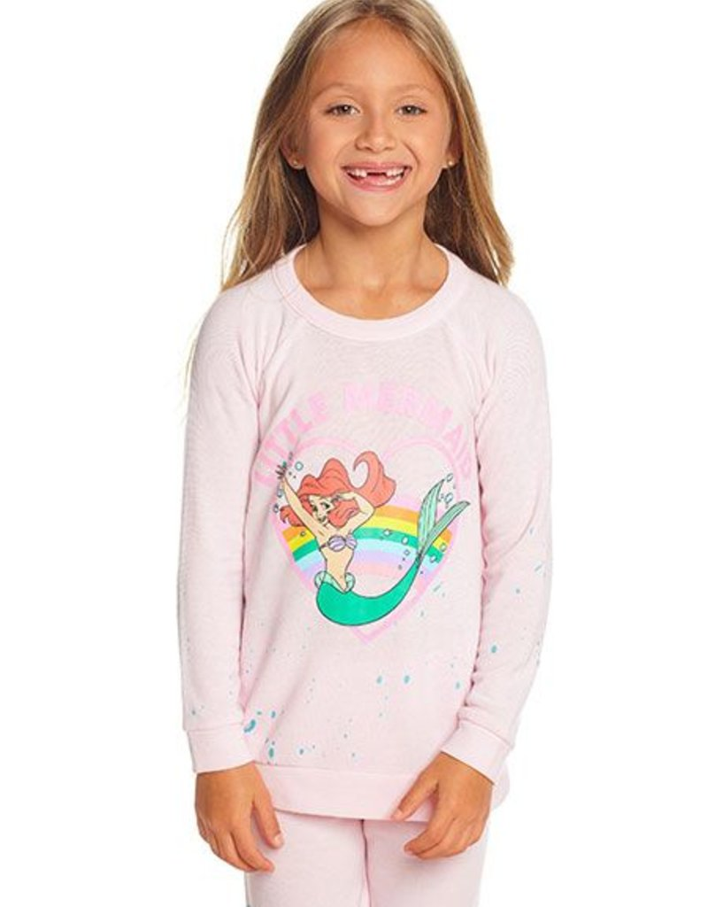 Chaser - Knit LS Pullover - Little Mermaid Heart