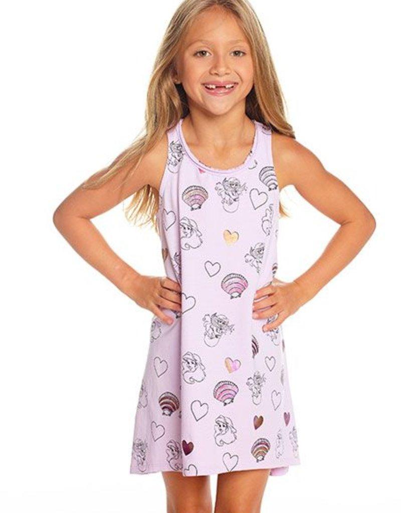 Chaser - Racer Back Dress - Mermaid Hearts & Shells