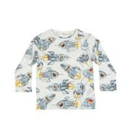 Paper Wings Paper Wings - L/S T-Shirt - Dogs in Space