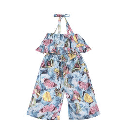 Paper Wings Paper Wings - Frilled Romper - Vintage Butterfly Roses