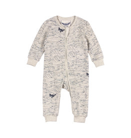 Paper Wings Paper Wings - Long Sleeve Romper - Gators