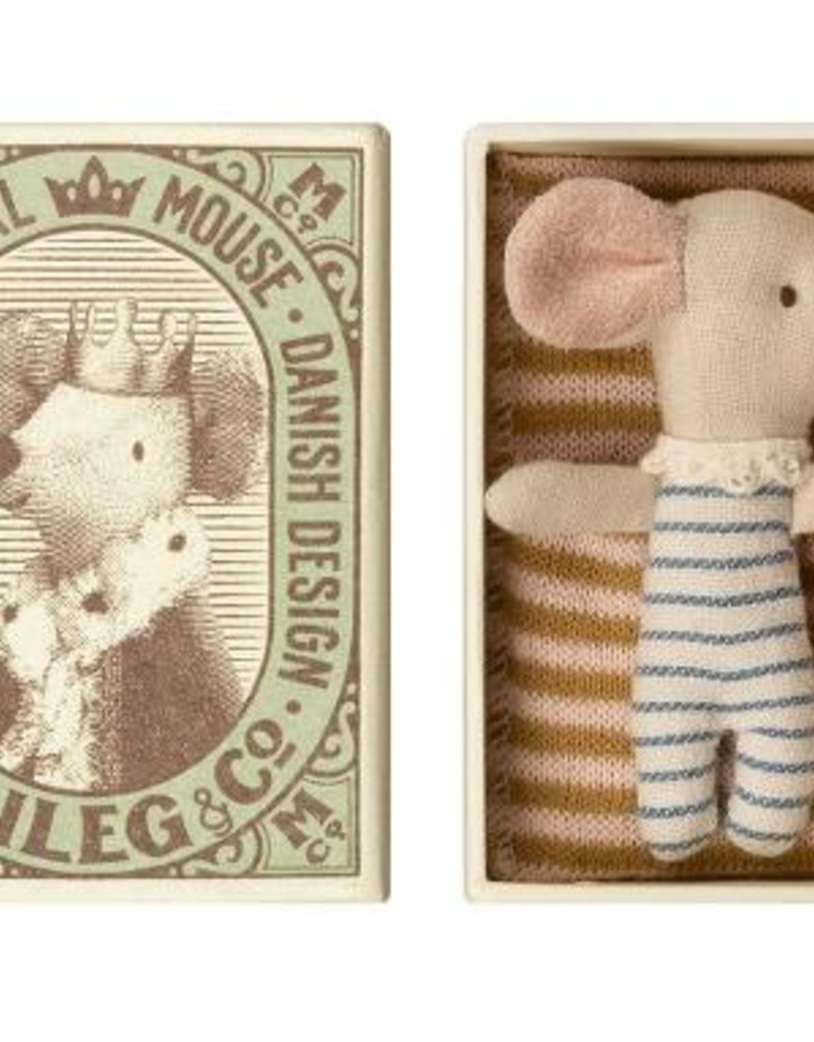 Maileg Maileg - Baby Sleepy Wakey Mouse in Box