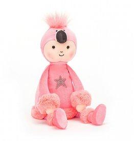 JellyCat Inc. JellyCat - Perkies Flamingo Flapper Doll