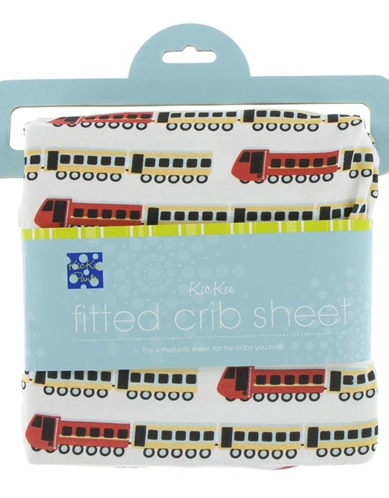 KicKee Pants KicKee Pants - Print Fitted Crib Sheet