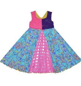 Twirly Girl - Unicorn Swirl Dress - Astro Sparkel