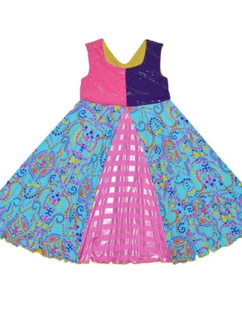 Twirly Girl - Unicorn Swirl Dress - Astro Sparkel