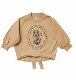 Rylee + Cru Rylee + Cru - Follow Your Heart Cinched Sweatshirt