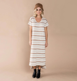 Rylee + Cru Rylee + Cru - Striped T-Shirt Dress
