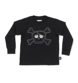 NUNUNU Nununu - Embroidered Skull T-Shirt - 12-14