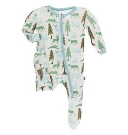 KicKee Pants KicKee Pants - Print Footie with Zipper