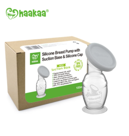 Haakaa Haakaa - Silicone Breast Pump with Suction Base & Silicone Cap Combo 100ml