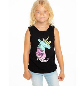 Chaser Chaser - Girls Rolled Armhole Musle Tank