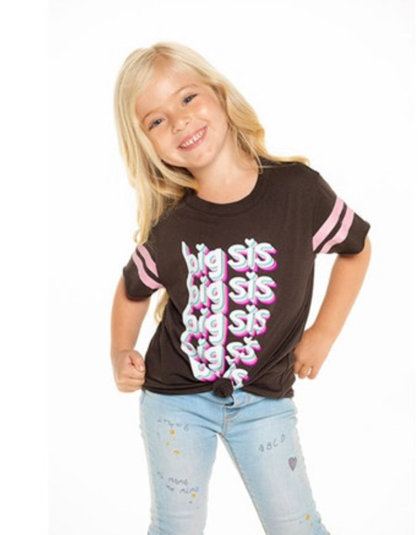 Chaser Chaser - Girls S/S Shirttail Crew Neck Tee