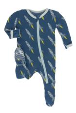 KicKee Pants KicKee Pants - Print Footie with Zipper