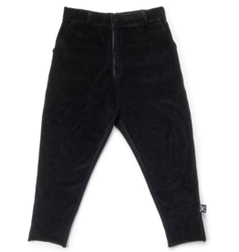 NUNUNU NUNUNU - Velvet Tailored Pant, Black, 2-3T