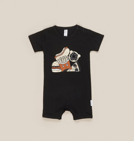 HUXBABY HUX - Gold Food Short Romper