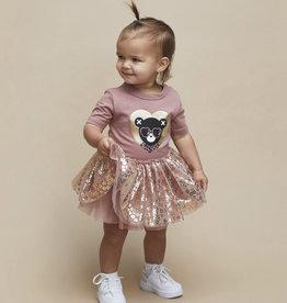 HUXBABY HUX - Heart Bear Ballet Onesie