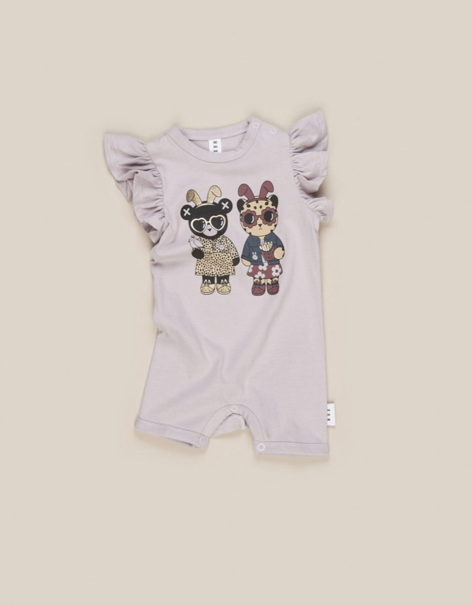 HUXBABY HUX - Almost Bunny Short Frill Romper