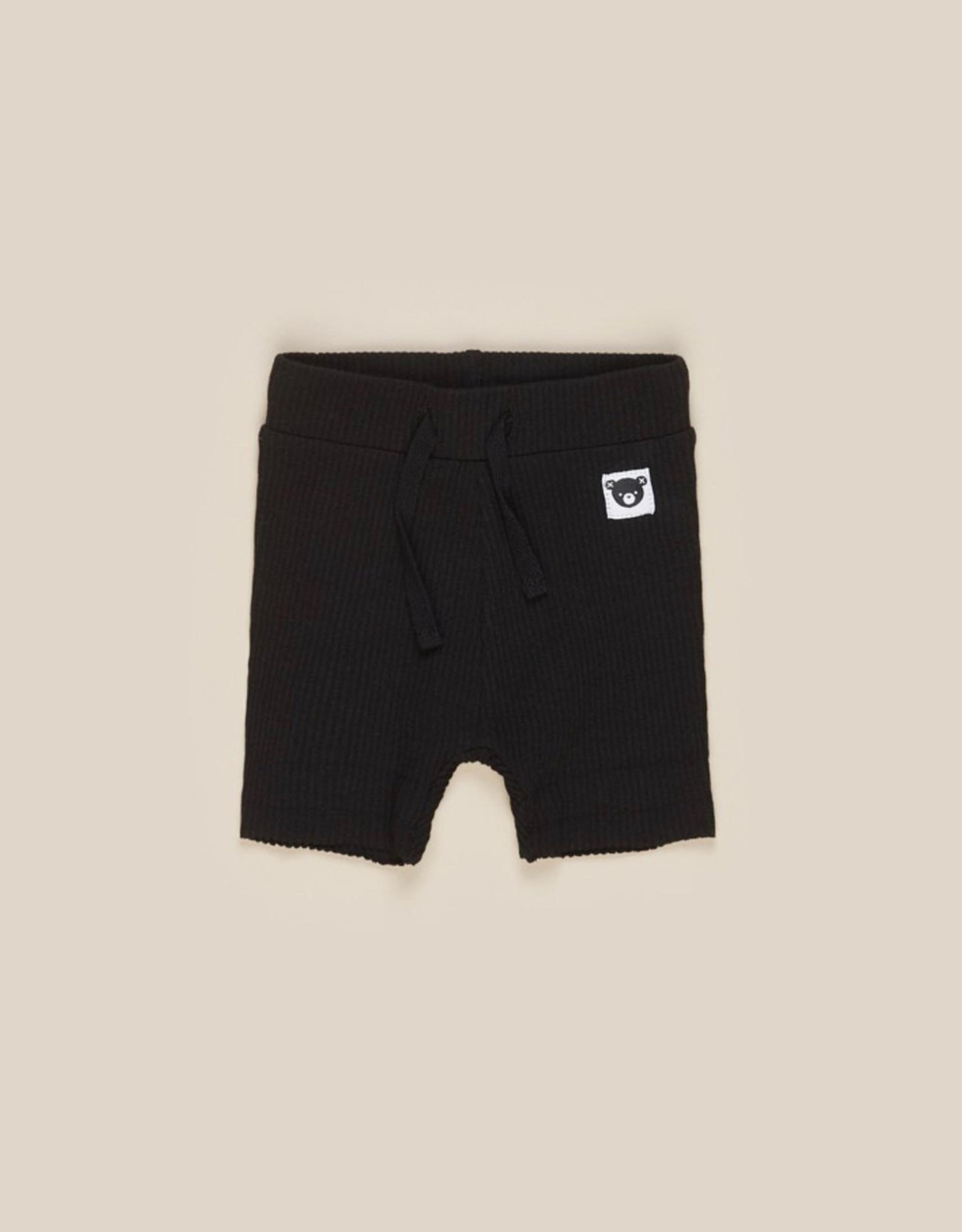 HUXBABY HUX - Black Rib Shorts