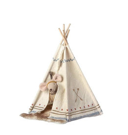 Maileg Maileg - Little Feather with Tent, Little Sister