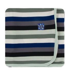 KicKee Pants Kickee Pants - Toddler Blanket - Zoology Stripe