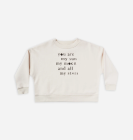 Rylee + Cru Rylee + Cru - Printed Boxy Pullover