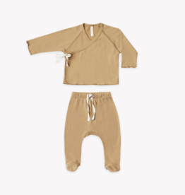 Quincy Mae Quincy Mae - Kimono Top & Footed Pant Set