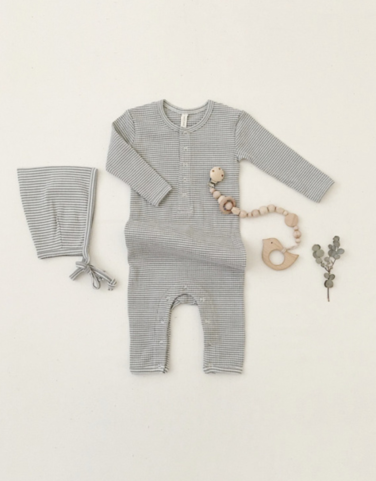Quincy Mae Quincy Mae - Ribbed Baby Jumpsuit
