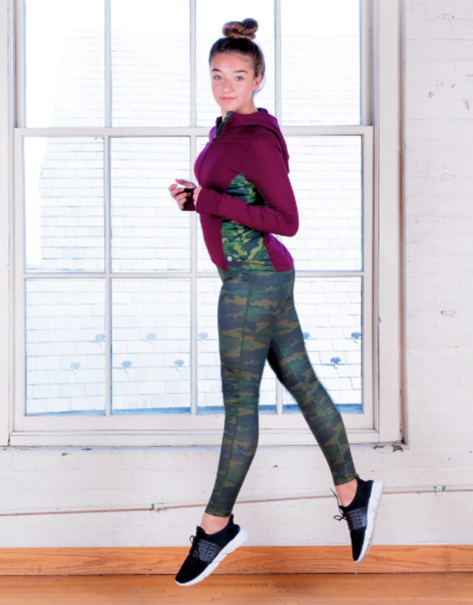 Jill Yoga Jill Yoga - Cut And Sew Hooded Yoga Jacket