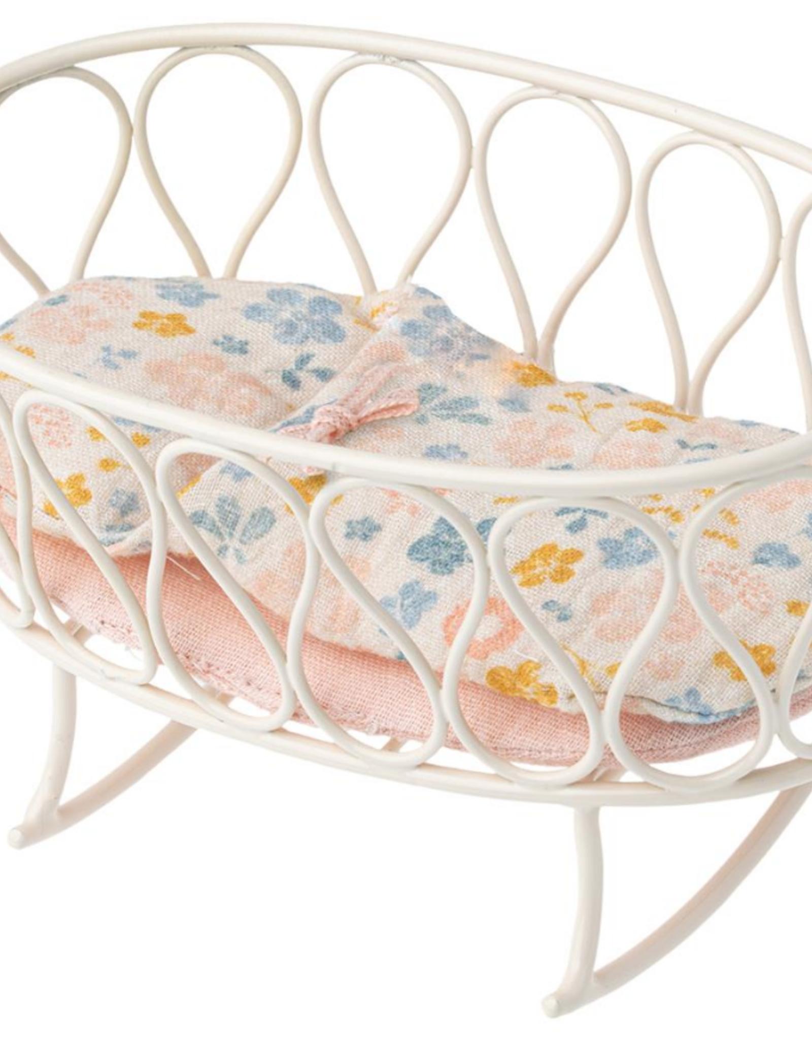 Maileg Maileg - Cradle with Sleeping Bag - Micro - Off White