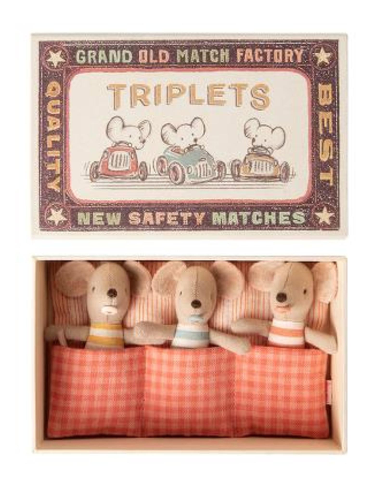 Maileg Maileg - Baby Mice Triplets in Matchbox