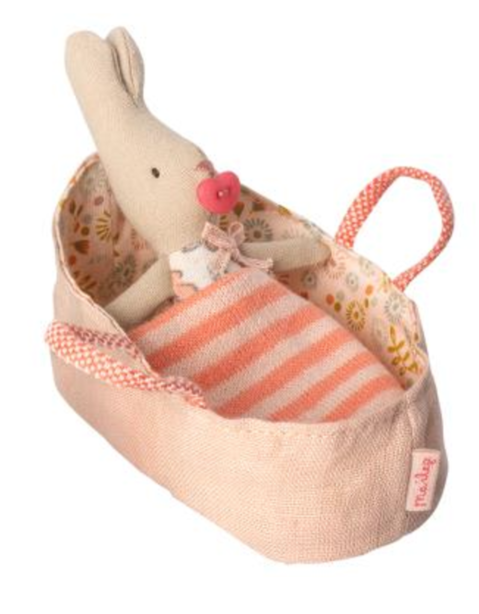 Maileg MY Rose Bunny in Carrycot