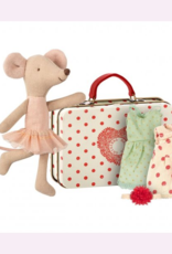 Maileg Maileg - Big Sister Ballerina Mouse in Suitcase with 2 dresses
