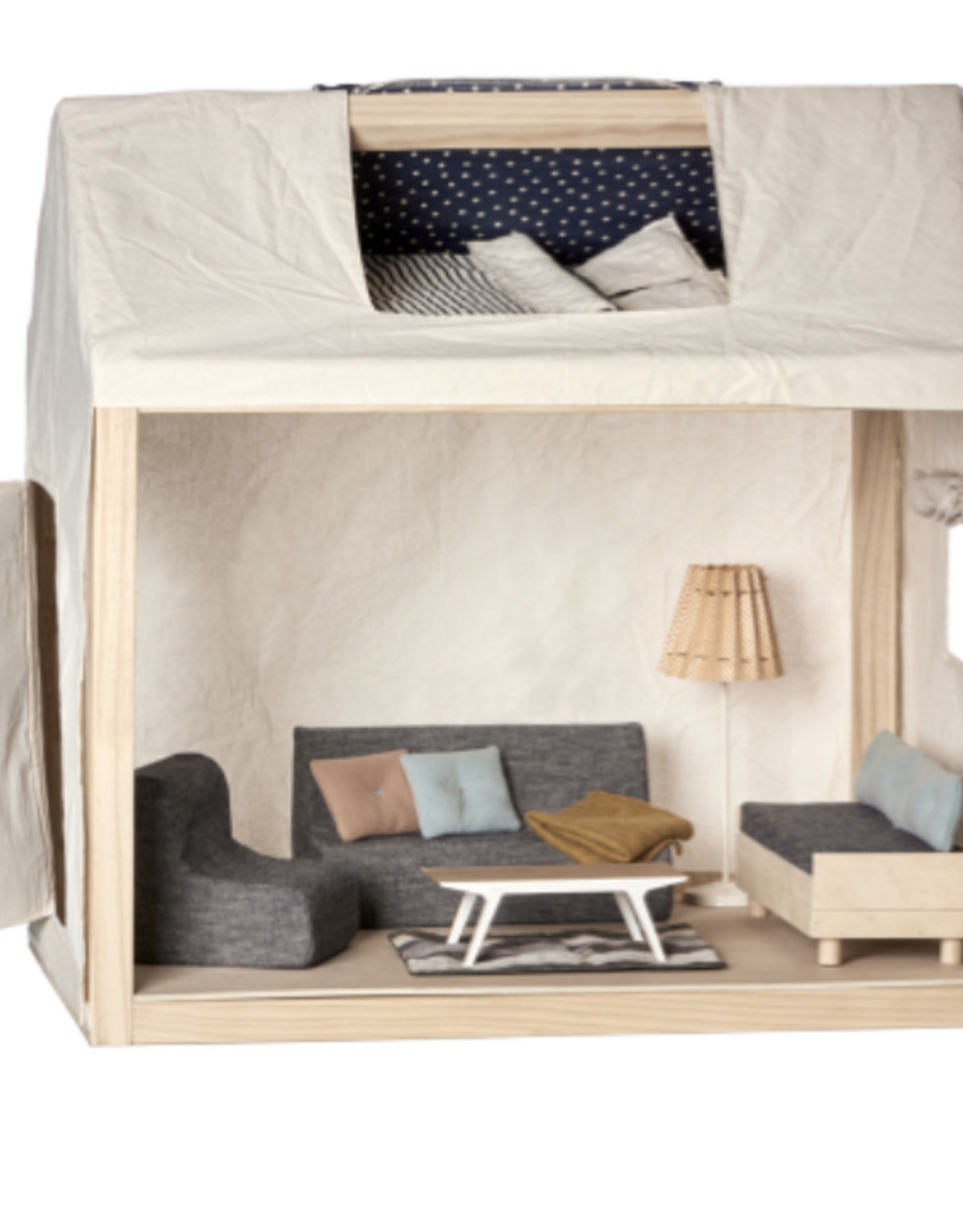 Maileg Maileg - House for Ginger Family, Includes Furniture
