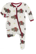 KicKee Pants KicKee Pants - Holiday Footie with Zipper