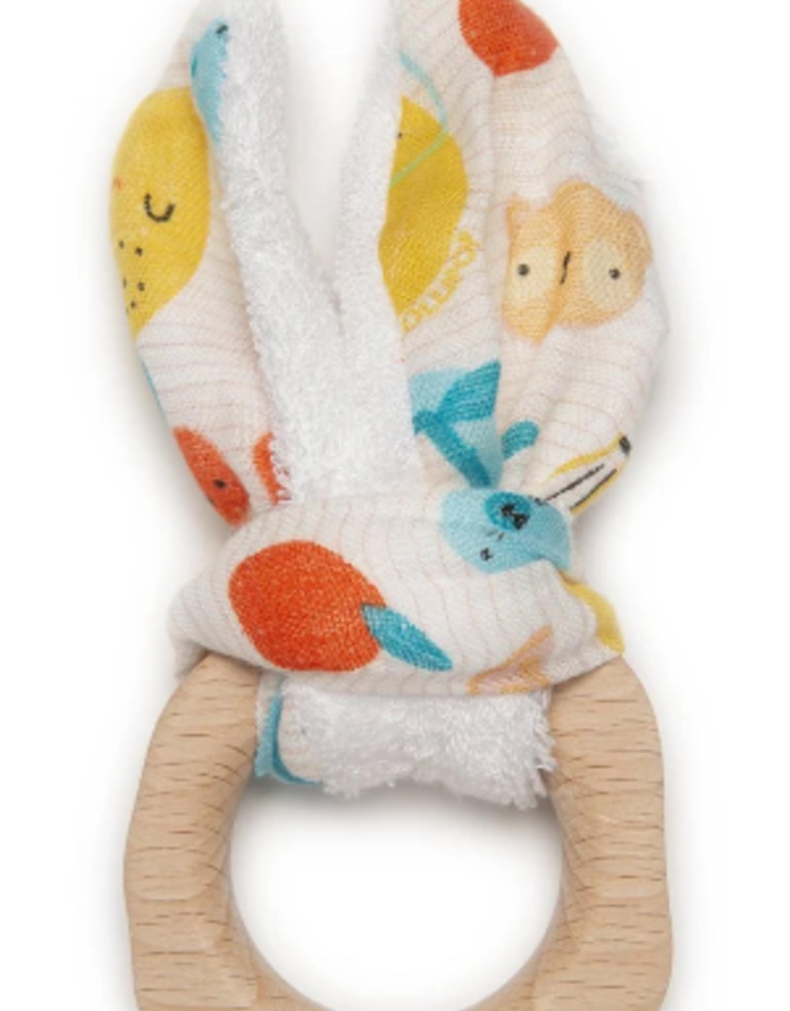 loulou LOLLIPOP loulou LOLLIPOP - Bunny Ear Teething Ring
