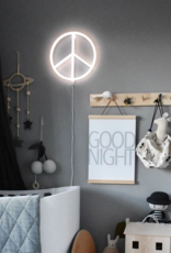 Lovely - Neon Style Light - Peace - White