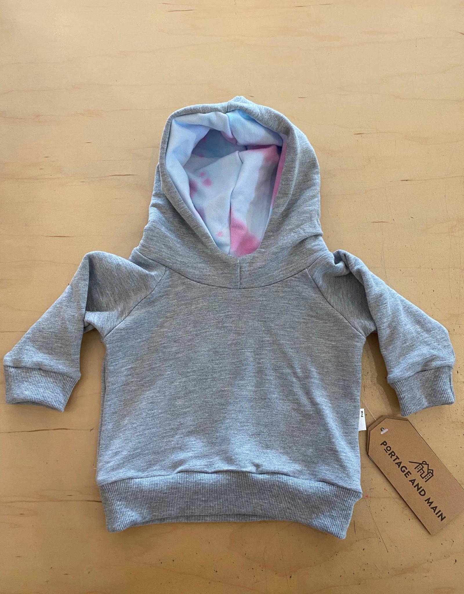 Portage + Main Portage + Main - Cotton Candy Tie Dye Hoodie