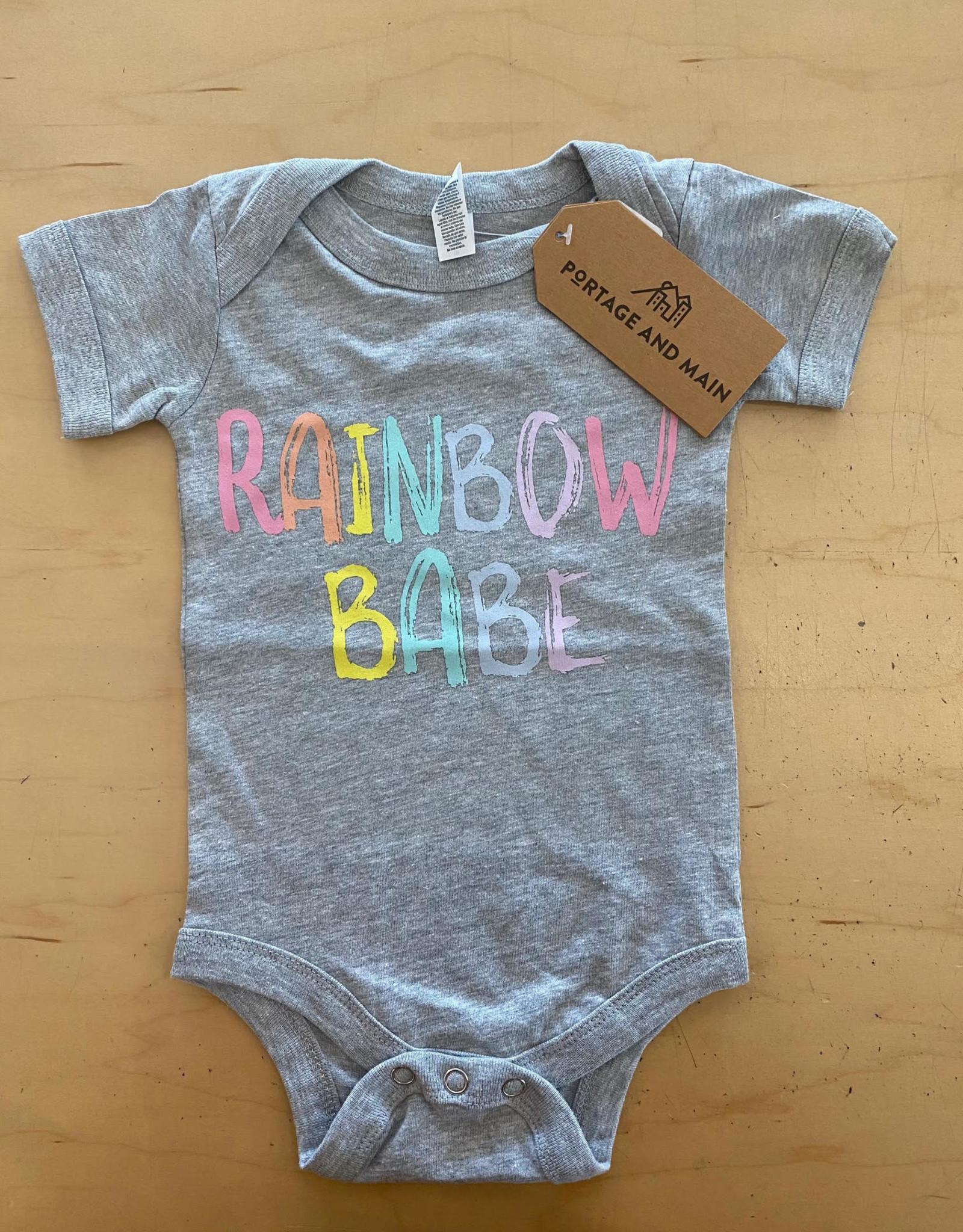 Portage + Main Portage + Main - Rainbow Babe Bodysuit