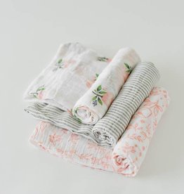 Little Unicorn Little Unicorn - 3 Pack Cotton Swaddle - Garden Rose