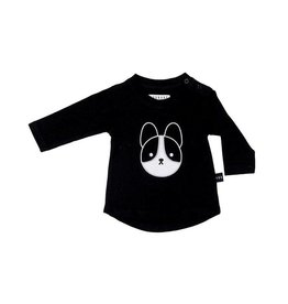 HUXBABY Frenchie Applique L/S Top