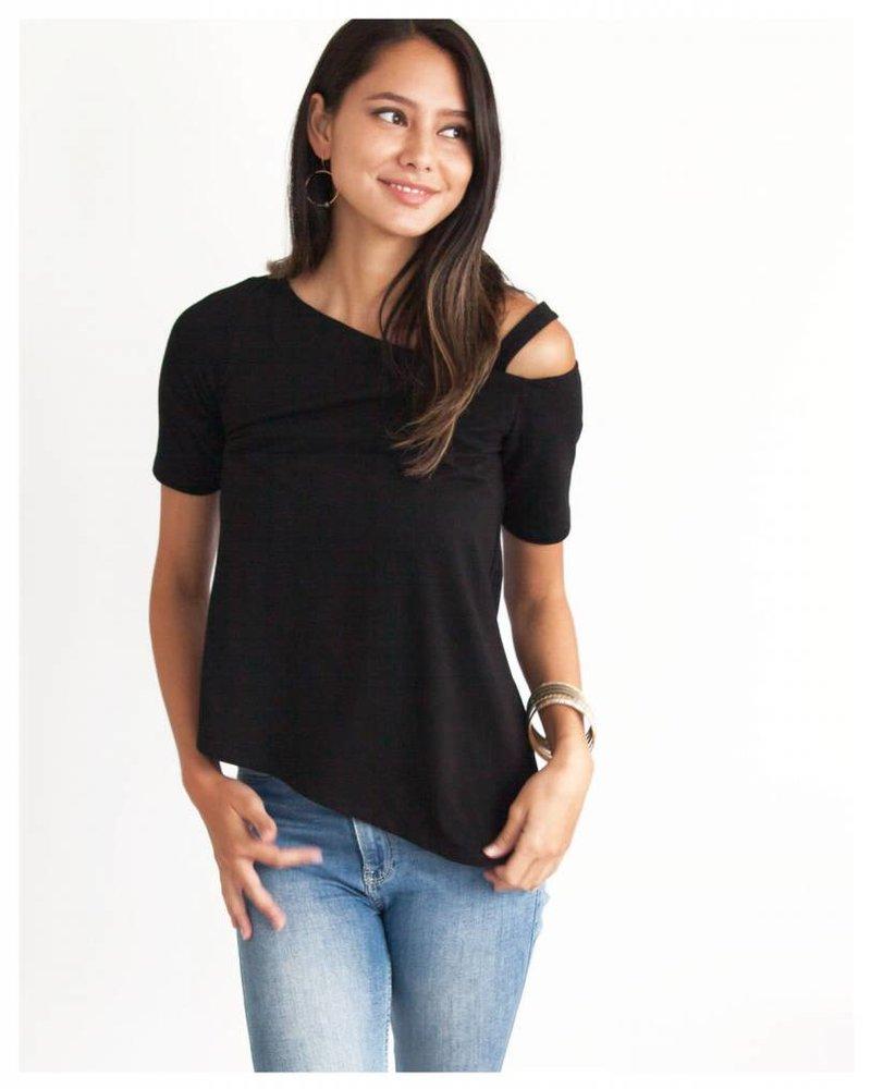 CINNAMON GIRL Geneva Blouse BLACK