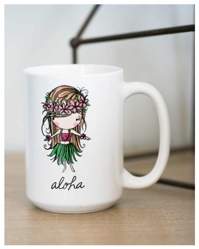15 oz Mug Aloha Hula Girl